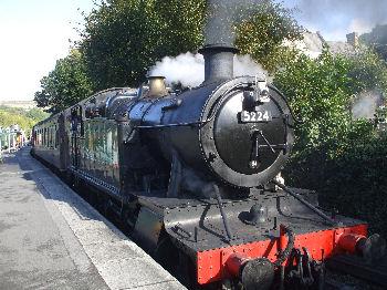 Steam trains run through